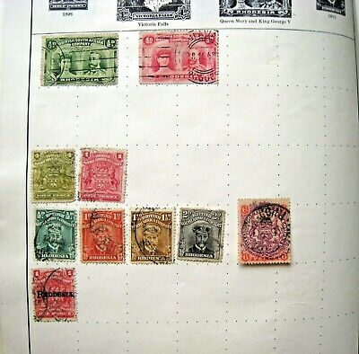 Unchecked Selection Of Early Rhodesia Stamps.  Lot#158
