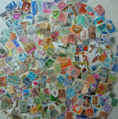 Over 400 different stamps taken from old stamp albums