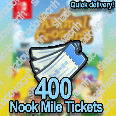 400 NOOK MILE TICKETS! Cheap and Fast Delivery! Animal Crossing NH! NMT