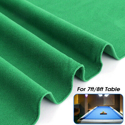 2.5x1.42m Worsted Billiard  For 7ft 8ft Pool Snooker Table Cloth Felt Cover UK