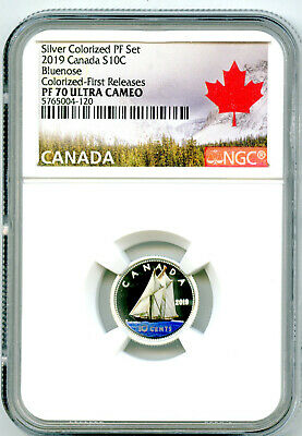 2019 Canada 10 Cent Silver Colored Proof Ngc Pf70 Ucam Dime First Releases Rare