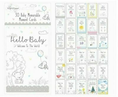 Hello Baby 1st Year Memorable Milestone Moment Cards x30 | Welcome to the World