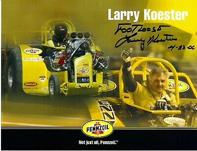 Footloose Larry Koester Signed Penzoil Tractor Pulling Champion 8.5x11 Photo #4