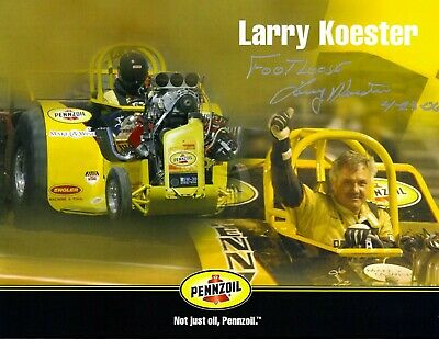 Footloose Larry Koester Signed Penzoil Tractor Pulling Champion 8.5x11 Photo #2
