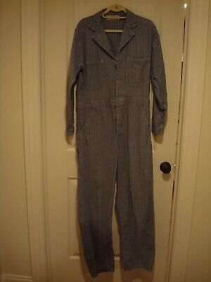 Vintage Stone Cutter UNIVERSAL Overalls Coveralls Herringbone CHICAGO Union Made