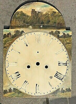 Antique Longcase Grandfather Clock Dial