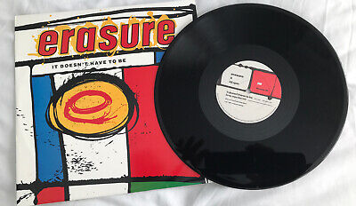 "ERASURE-It Doesnt Have To Be-1987 12"" Single -Vinyl Picture Sleeve - 12mute56-NM"