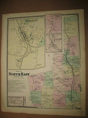 Original 1867 Map - North East, New York from Beers County Atlas
