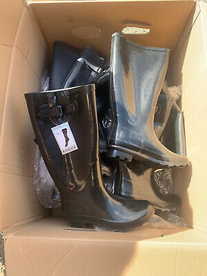 Muck Boots Wholesale Job Lot, Black Wide Fit Wellington Boots, Resell, Traders