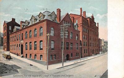 City College Of Physicians & Surgeons Baltimore Maryland Postcard 1909