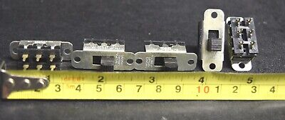 10 PCS SWITCHCRAFT Model 11A-1534 DPDT Slide Switches
