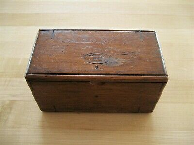 Antique 1889 Wood Folding Puzzle Box & Sewing Machine Attachments