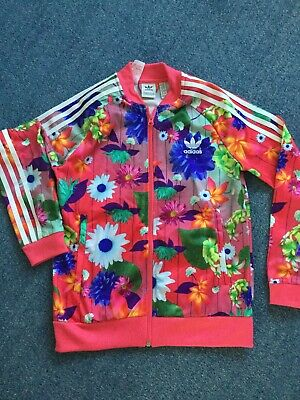 Adidas Floral Girls Track Top/Jacket Age 11-12