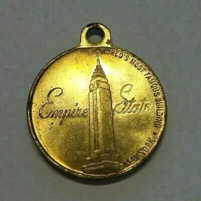 Vintage New York City Empire State Building With Information Key Fob Token