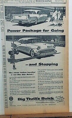 1957 newspaper ad for Buick - Power Package for Going and Stopping, '57 Buick