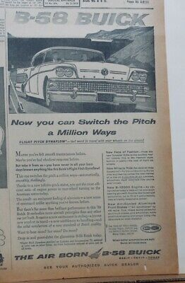 1957 newspaper ad for Buick - Switch the Pitch A Million Ways, '58 model