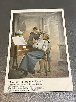 WW1 German Soldier And Sweetheart Postcard