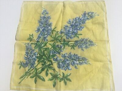 Rags  VINTAGE  BRIGHT GREAT COLOR FLORAL HANDKERCHIEF HANKY