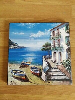 La Marina Picture On Wooden Block