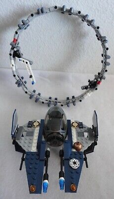 Lego Star Wars Jedi Starfighter with Hyperdrive Booster Ring 7661