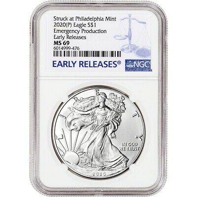 2020-(P) American Silver Eagle - NGC MS69 - Early Releases Emergency Production