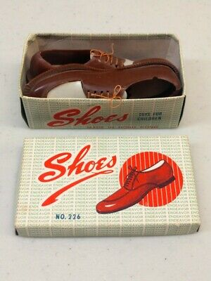 2 Antique Oxford Plastic Shoes - Salesman Samples