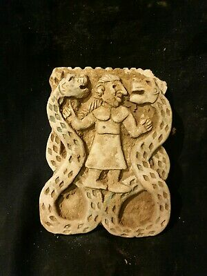Museum quality CIRCA near eastern Terracotta Plate Displaying Animals fighting