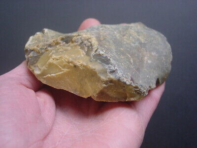 RARE Acheulian Palaeolithic Flint END SCRAPER on large core flake Hampshire UK