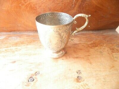 Silver plated mug/christening cup?