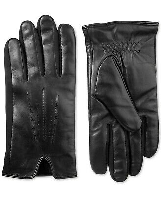 Isotoner Men's Driving Gloves Black Size XL Sleek Leather Touch Screen $80 208