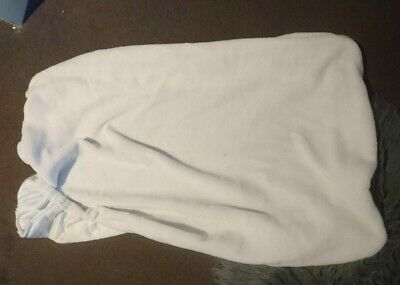 Baby Change Mat /Table Cover. White Warm Fleece Cover,  excellent condition