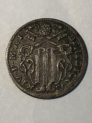 Papal States, Rome, Vatican City: 1730-1740 Silver Grosso. Pope Benedict IV