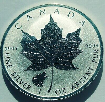 2016 Canada 1 oz Silver Maple Leaf Grizzly Privy Reverse Proof coin in capsule