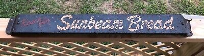 Vintage Sunbeam Bread Come Again Old Store Sign Metal Treasure Hunting Find