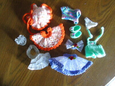 """Troll doll clothes Fits 4 1/2""""  Russ doll Handmade set of 4 outfits OOAK"""