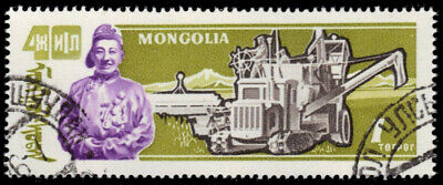 "MONGOLIA 251 - Independence ""Farmer and Combine Harvester"" (pa12375)"