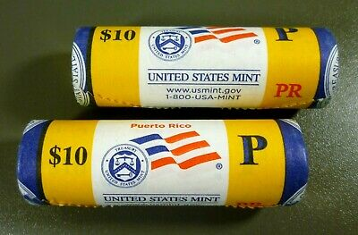 2009-P 25C Puerto Rico Uncirculated State Quarter US Mint Issued Roll