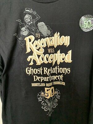 Disney Annual Passholder AP Haunted Mansion 50th Anniversary Glow T Shirt XL NWT