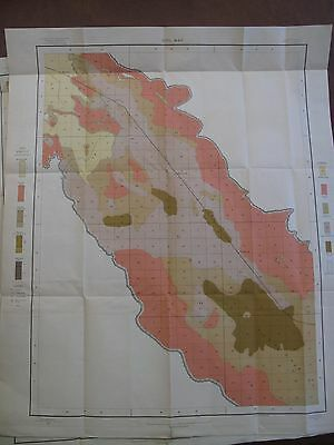 Original 1903 Color Folding Soil Survey & Alkali Maps Indio California Riverside