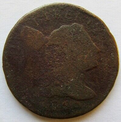 1795 Lettered Edge 1C BN Draped Bust Large Cent Full Date Corroded