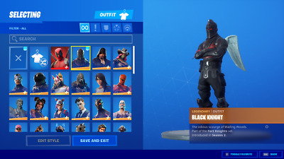 FORTNITE Account BLACK KNIGHT JOLLY ROGER🔥!! OMEGA MAXED 70skin (raffle) FA🔥