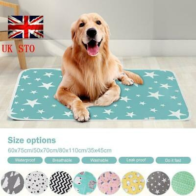 Waterproof Pet Bed Pad Dog Puppy Mat Cushion Pee Pads Washable Reusable Cotton