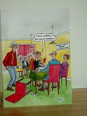 Tequila Slammers~ Humorous// Funny ~ Cat with hangover ~ greeting card ~ free p/&p