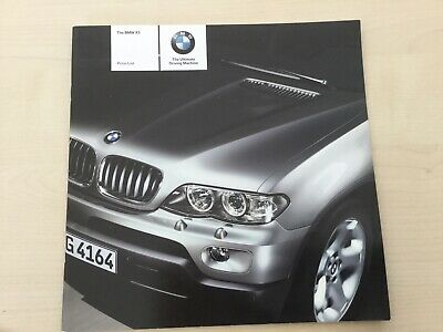 BMW  X5 Price list dated sept 2004  Brochure in Good condition