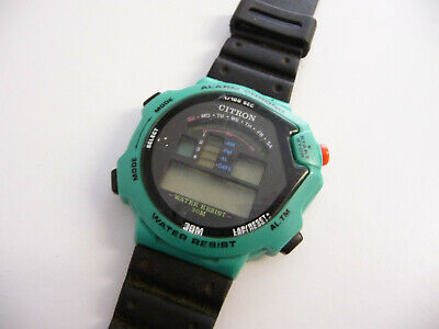 Vintage Citron Alarm Chrono digital display wrist watch; multi function LCD