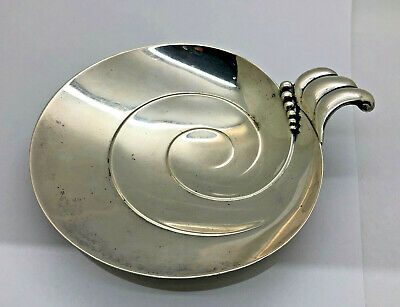 Vintage Sterling Silver Tiffany Co 23113 Footed Swirl With Snail Pattern Bowl