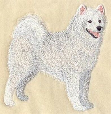 Embroidered Long-Sleeved T-Shirt - Samoyed C5072 Sizes S - XXL