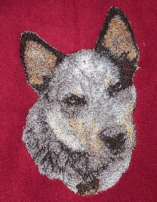 Embroidered Long-Sleeved T-shirt - Australian Cattle Dog AED16215 Sizes S - XXL