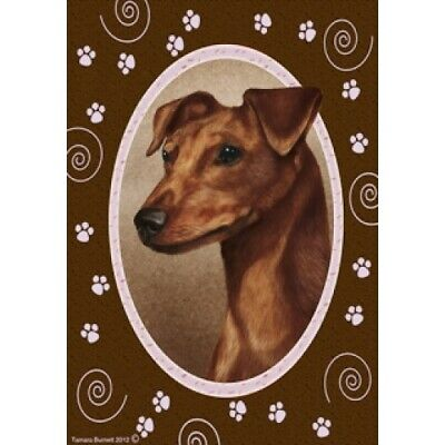 Paws House Flag - Uncropped Red Miniature Pinscher 17151