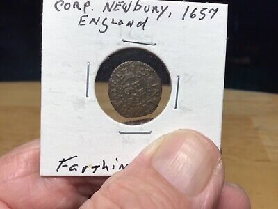 1657 Corp. of Newbury (England) silver Farthing